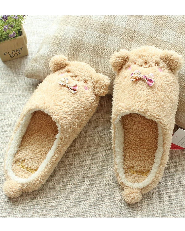 Minetom Donne Pantofole Calde Autunno Inverno Morbido Scarpe Antiscivolo  Casa Bowknot Cartone Animato Slippers: Amazon.it: Abbigliamento