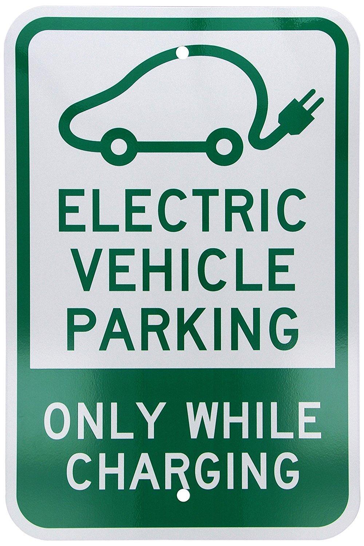 verde sobre blanco 18/cm de alto x 12/cm de ancho Legend veh/ículo el/éctrico parking-only mientras se carga con gr/áfico fhdnagfds ingeniero grado reflectante Sign