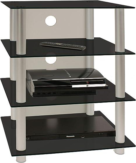 VCM Blados-Mueble para Equipo de Alta fidelidad, Cristal de Color Negro: Amazon.es: Hogar