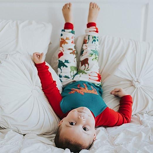 Pijamas de Navidad a juego para toda la familia, diseño a rayas con motivos navideños, Men, XX-Large: Amazon.es: Hogar