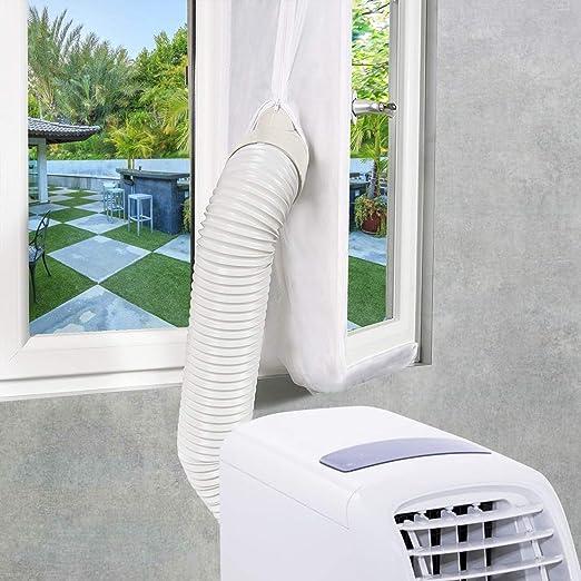 EXTSUD Sello de Ventana Aislamiento de Ventanas para Aire Acondicionado Portátiles y Secadoras Anti UV, Anti-Mosquitos, con Cremallera, 400cm: Amazon.es: Bricolaje y herramientas