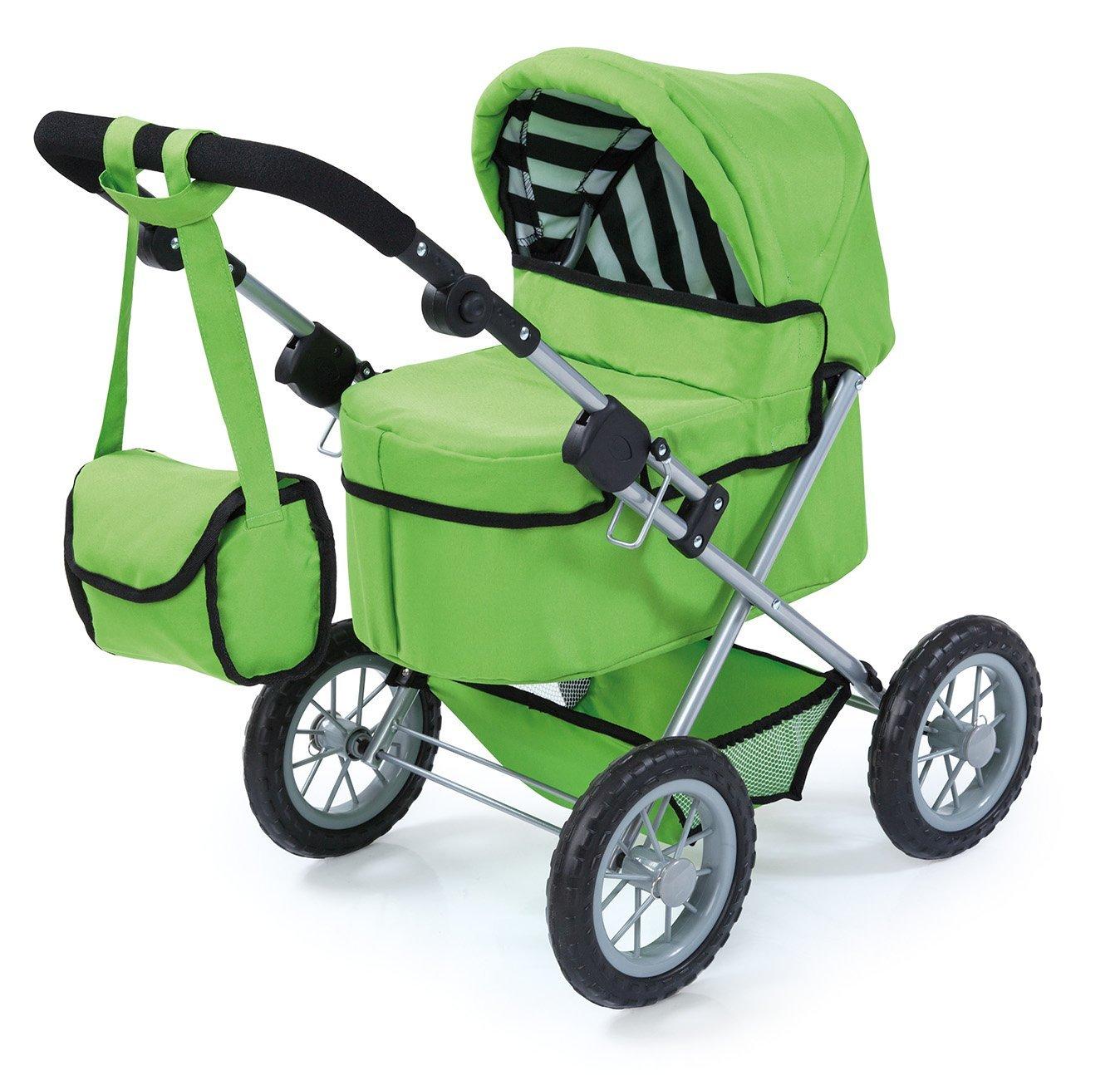 Bayer Design 1302700 – Passeggino per bambole Trendy per bambole, 46 cm, verde
