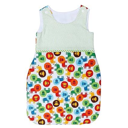 Saco de dormir unisex para bebé, 2 tamaños, regalo de ducha verde Talla: