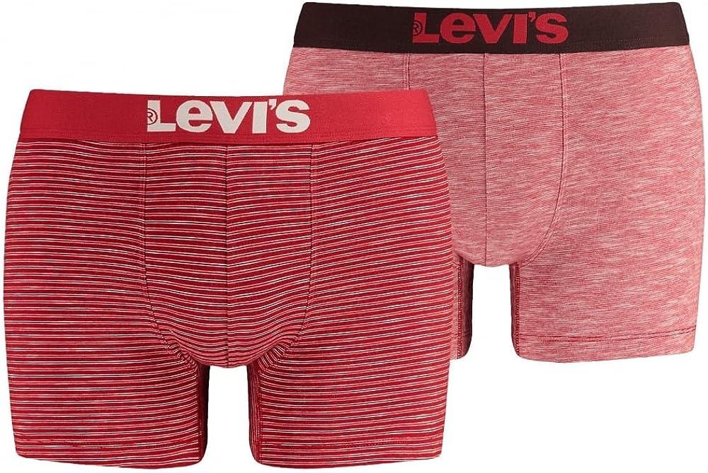 Levis 2-Pack 200sf Slubyarn Raya Boxer Calzoncillos, Rojo X-Grande: Amazon.es: Ropa y accesorios
