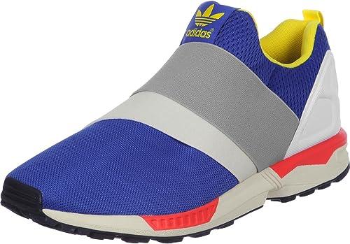 adidas ZX Flux Slip On, FTWR White Yellow Blue, 4: