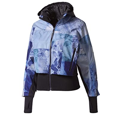 b9a7163ba2bb adidas by Stella McCartney Women s Run Trail Jacket BQ8314 Legend Blue S10  Small