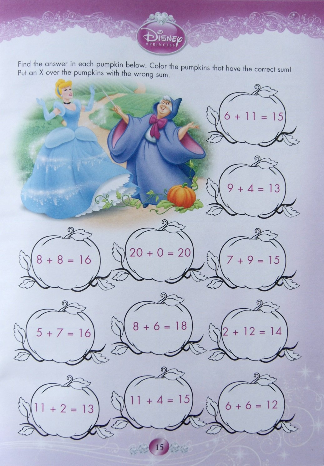 Amazon.com: Disney Princess Addition & Subtraction Workbook: Toys ...