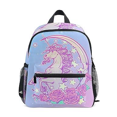 Amazon Com Pastel Goth Unicorn Preschool Bag Kids Backpack For