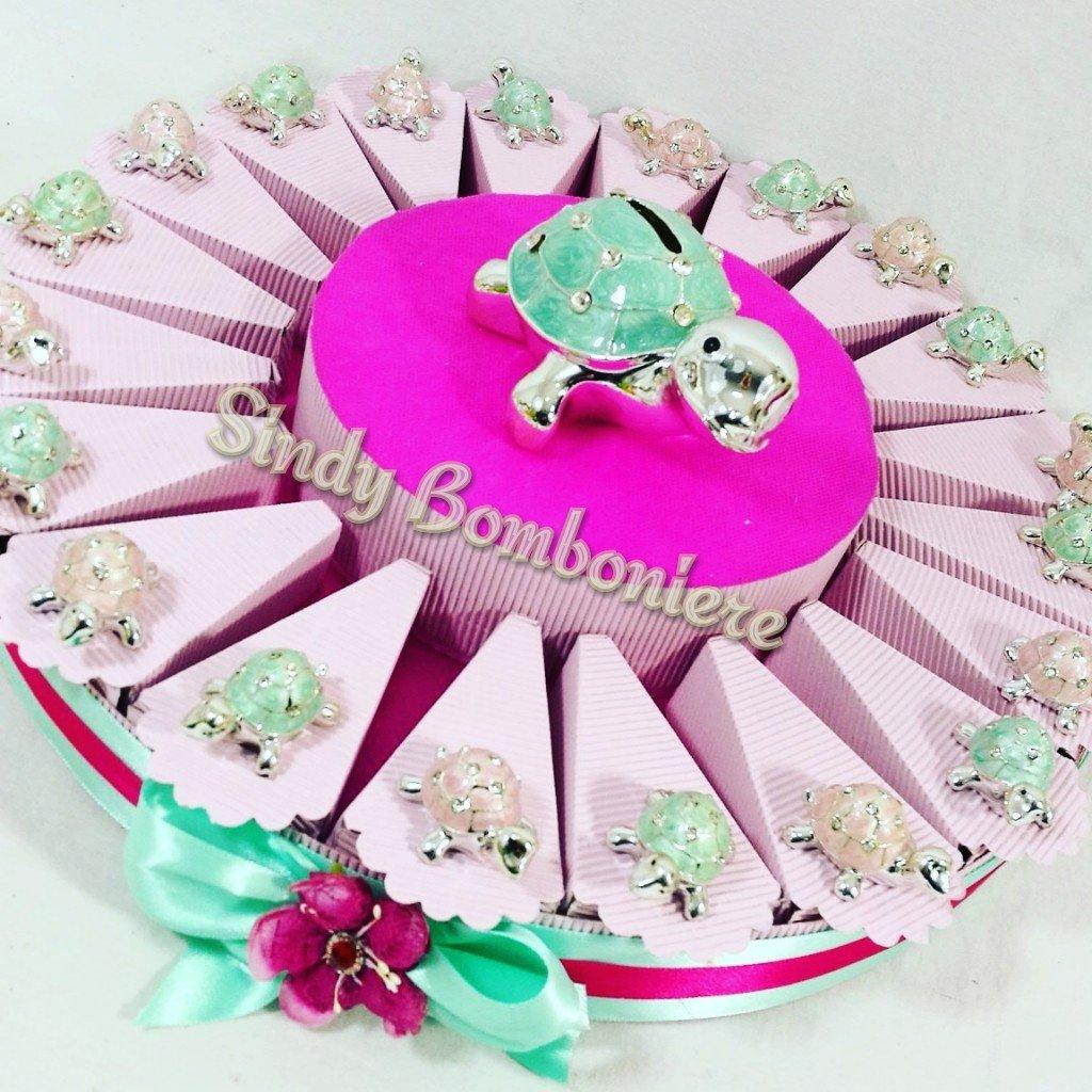 marca de lujo Torta 35 Fette A 3 Piani Piani Piani Con Centrale Bombonera con tortuga con brillantes, hucha en la parte central de la tarta  solo para ti