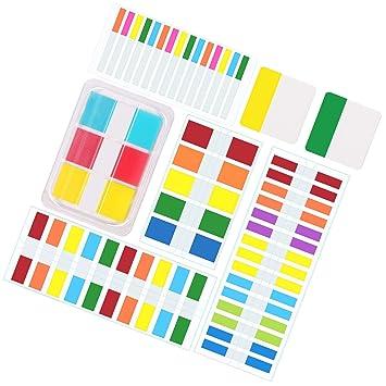 Lvcky - 1000 Unidades de 6 tamaños de Etiquetas de índice de Bandera dispensadores de Notas