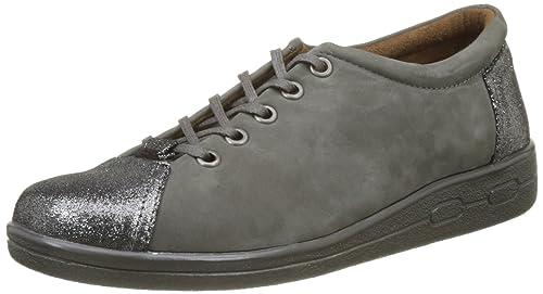 45739, Zapatos de Cordones Derby para Mujer, Gris, 36 EU Damart