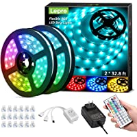 Lepro 65.6ft LED Strip Lights Kit, Ultra-Long RGB LED Light Strips, Dimmable Color Changing Light Strip with Remote…