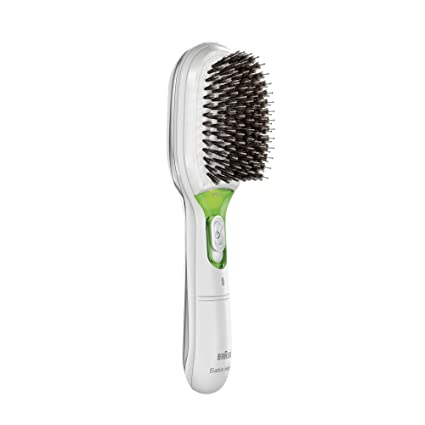 Braun Satin Hair 7 BR750 - Cepillo de pelo con cerdas naturales, cepillo alisador de