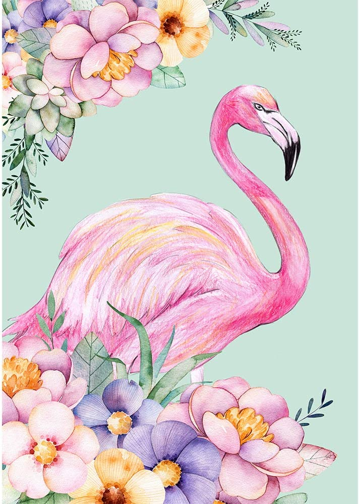 Paint with Diamonds Kit Diamond Painting Kits Art for Adults Diamond Art, Full Drill (flamingo2)