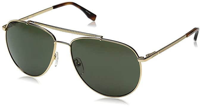 e66832616856 Amazon.com  Lacoste Men s L177S Aviator Sunglasses Gold 59 mm  Clothing
