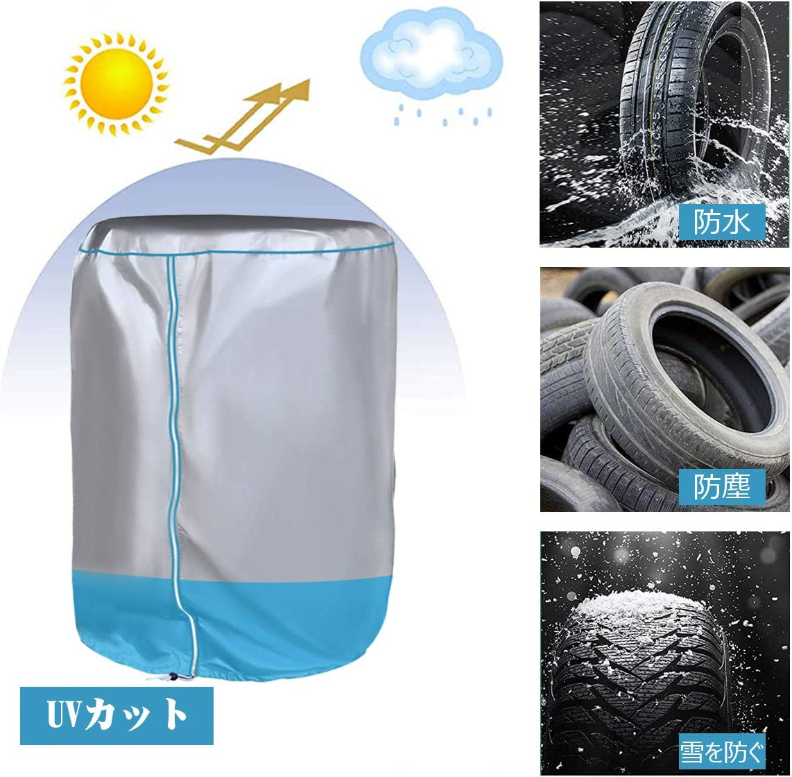 ordinary wheel tire cover, Large TireHide Seasonal Tire Outdoor Tire Covers,Diameter28(Diameters-71CM) waterproof automobile tire rack Tire storage cover sunscreen stain protection dust protection
