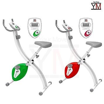 Your Move (YM) - Bicicleta estática Fitness plegable, color rojo o