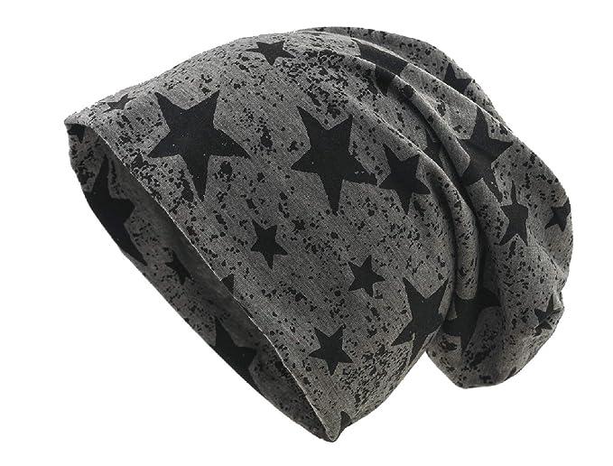Cappello in jersey - lungo e sottile - primavera estate - unisex - grigio  scuro con stelline  Amazon.it  Abbigliamento 6594f7c7255d