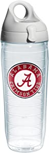 Tervis 1073460 Alabama University Emblem Individual Water Bottle with Gray lid, 24 oz, Clear