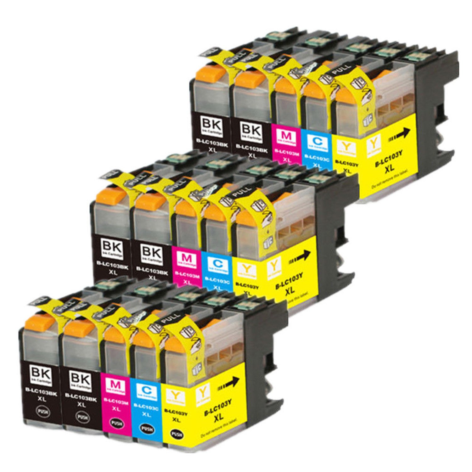 ZR-Printing Replacement Brother LC103 103xl Ink Cartridge Compatible Brother DCP-J152W,MFC-J245/J285DW,MFC-J450DW,MFC-J650DW/J870DW,MFC-J4310DW,MFC-J6520D(6 Black, 3 Cyan, 3 Magenta, 3 Yellow)