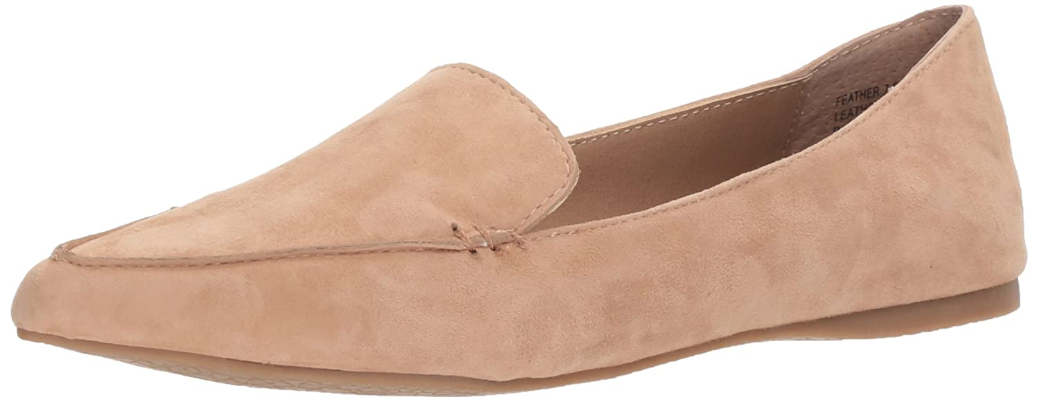 Steve Madden Women's Feather Loafer Flat B01FKWH6TK 9.5 B(M) US|Camel Suede