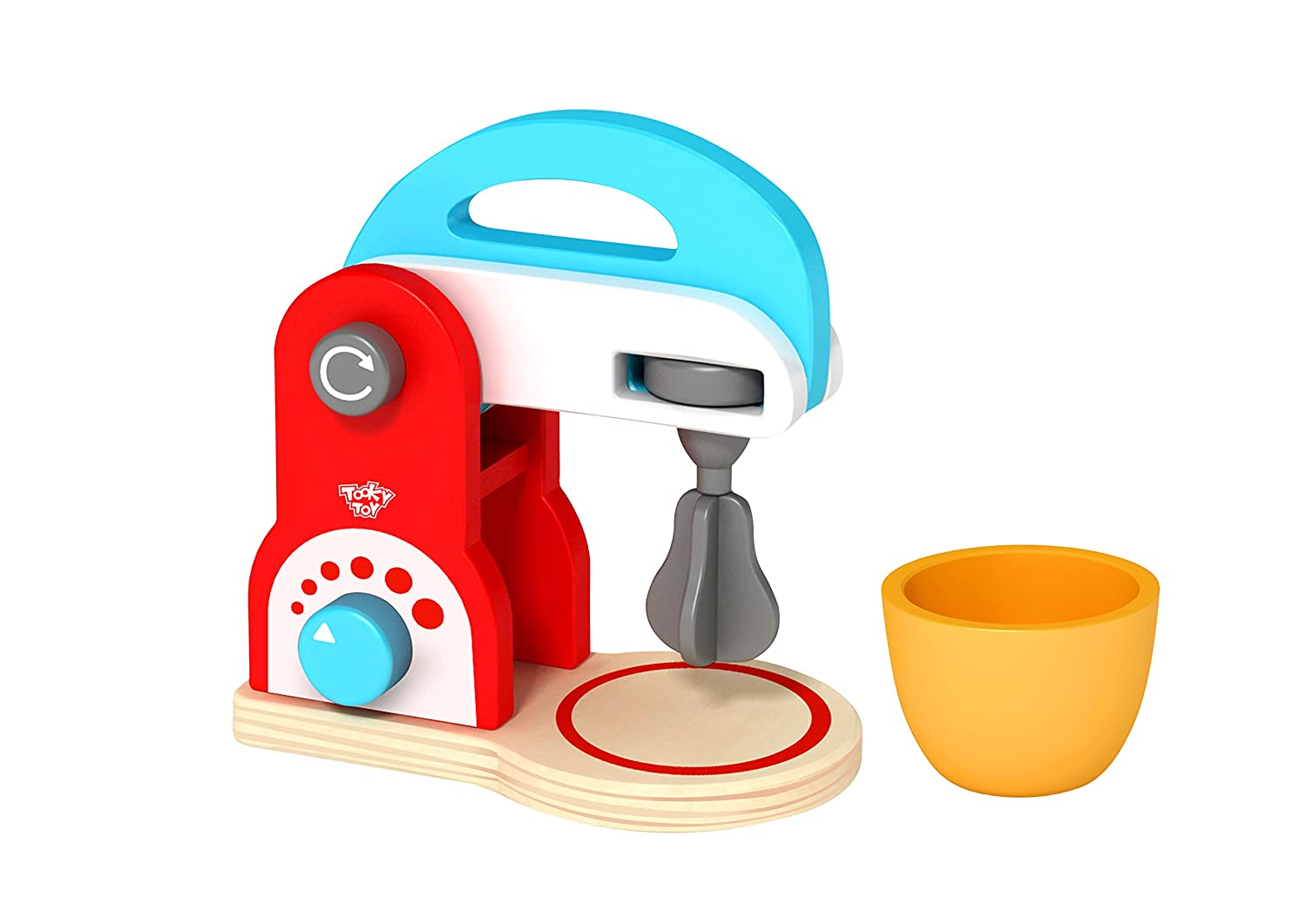 Tooky Toys Coffee Set Play with Milk and Sugar Wooden Kitchen Set-TKC481-S12