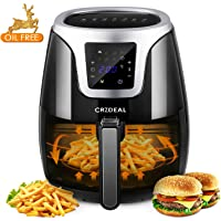 CRZDEAL 3.5L Air Fryer Appliance 1500w with Oil-Free Mode   Non-stick Pan & Basket , Digital Touch Screen for Healthier Life