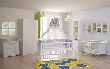 Babyzimmer set weiß  Polini Kids Babyzimmer Kinderzimmer Komplett Set Weiß 4-Teilig ...
