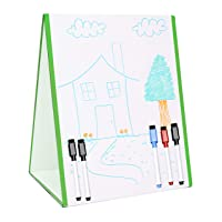 Tabletop Magnetic Easel & Whiteboard Double Sides Includes: 5 Dry Erase Markers& 7pcs Puzzle Stand-Up Drawing Art White Dry Erase Board Educational kit