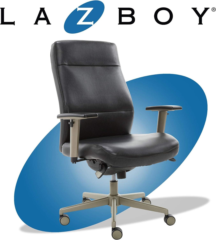 La-Z-Boy Baylor Modern Executive Office Chair, Adjustable Ergonomic Lumbar Support, Black
