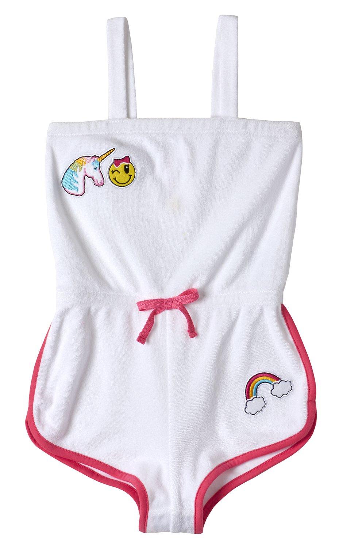 Pink Platinum Girls Terry Romper Swim Cover-up PP709696-BLUFISH-7/8