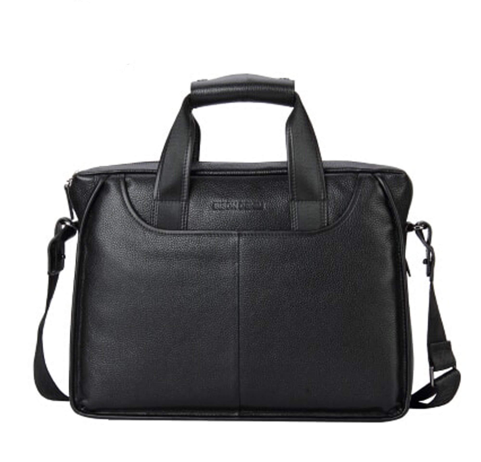Genuine Leather Guarantee Briefcase Men Bag 14 inch Laptop Soft Cowhide Messenger Bag Handbag Bag Business N2237-3