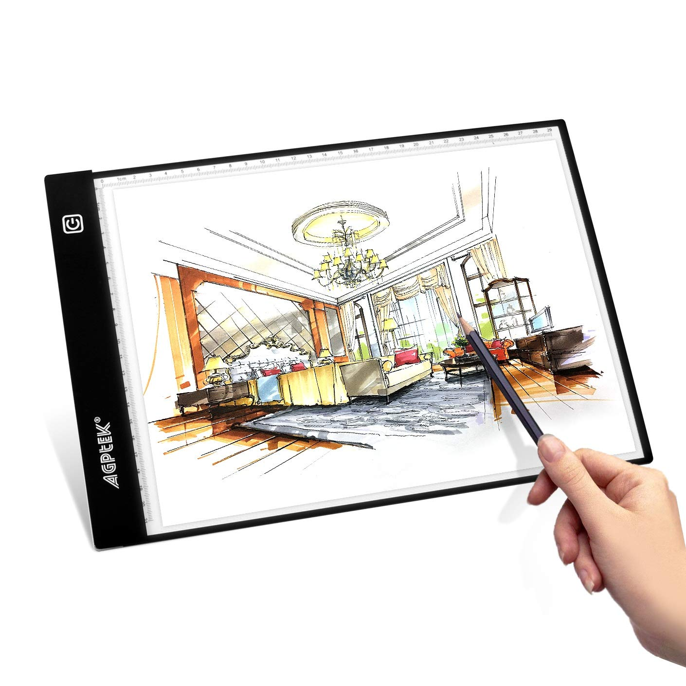 A3 Light Box, Magnetic LED Copy Board Drawing Tracing Light Pad, Ultra-thin Stepless Brightness Control with Memory Function USB Powered Tatoo Pad for Animation, Sketching, Designing, Stencilling X-ray Viewing AGPTEK