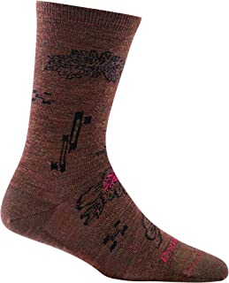 product image for Darn Tough Shibourri Crew Light Sock - Women's Chestnut Small