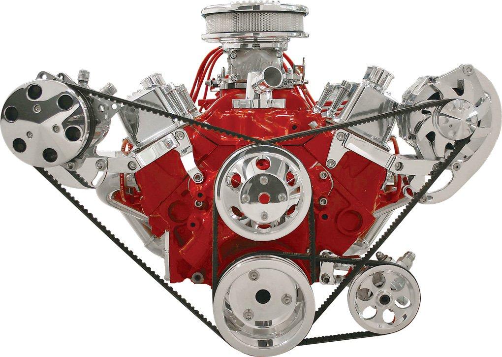 Billet Specialties pulido Alternador y AC Compresor Soporte Dr lado MNT, SBC, LWP: Amazon.es: Coche y moto