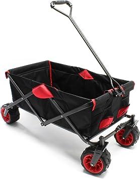 WilTec Carrito Plegable Vagoneta jardín Carrito Playa Carro Manual Trolley Ayuda Transporte Manual Outdoor: Amazon.es: Coche y moto