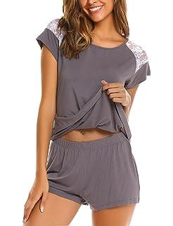 Avidlove Womens Pajama Set Short Sleeve Sleepwear Pjs Sets Ladies 2-Piece Nightwear(S