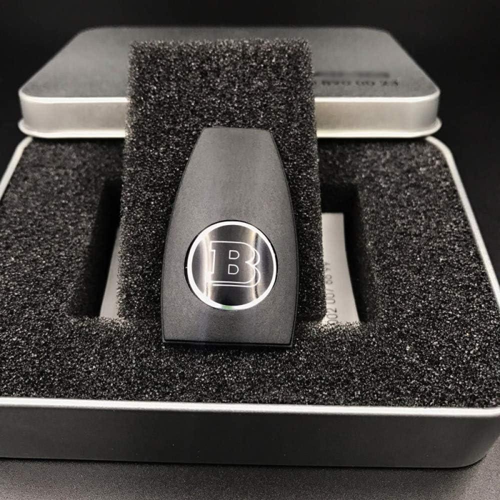 JGFDVBBNM Coque de cl/é de Voiture Convient pour Mercedes-Benz AMG W204 W212 W218 W221 W166 W203 W212 W211 W211 W124 Accessoires Logo Brabus