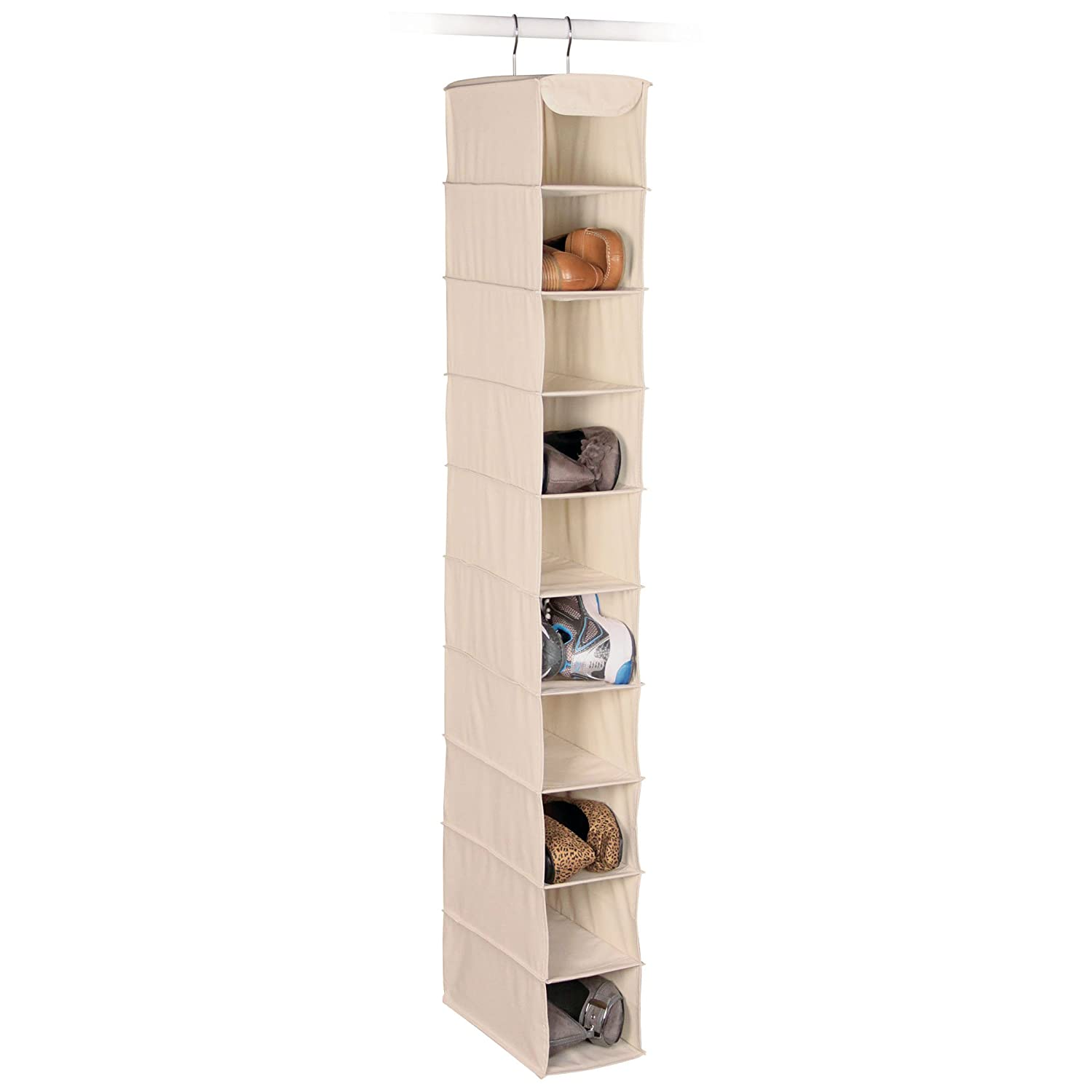 Richards Homewares Hanging Ten Shoe Largeシェルフorganizer-canvas / Natural 50