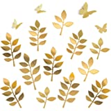 Letjolt Golden Paper Leaves Paper Butterflies Set Decorations for Family Tree Photo Wall Crafts Leaf(12pcs) Glitter…