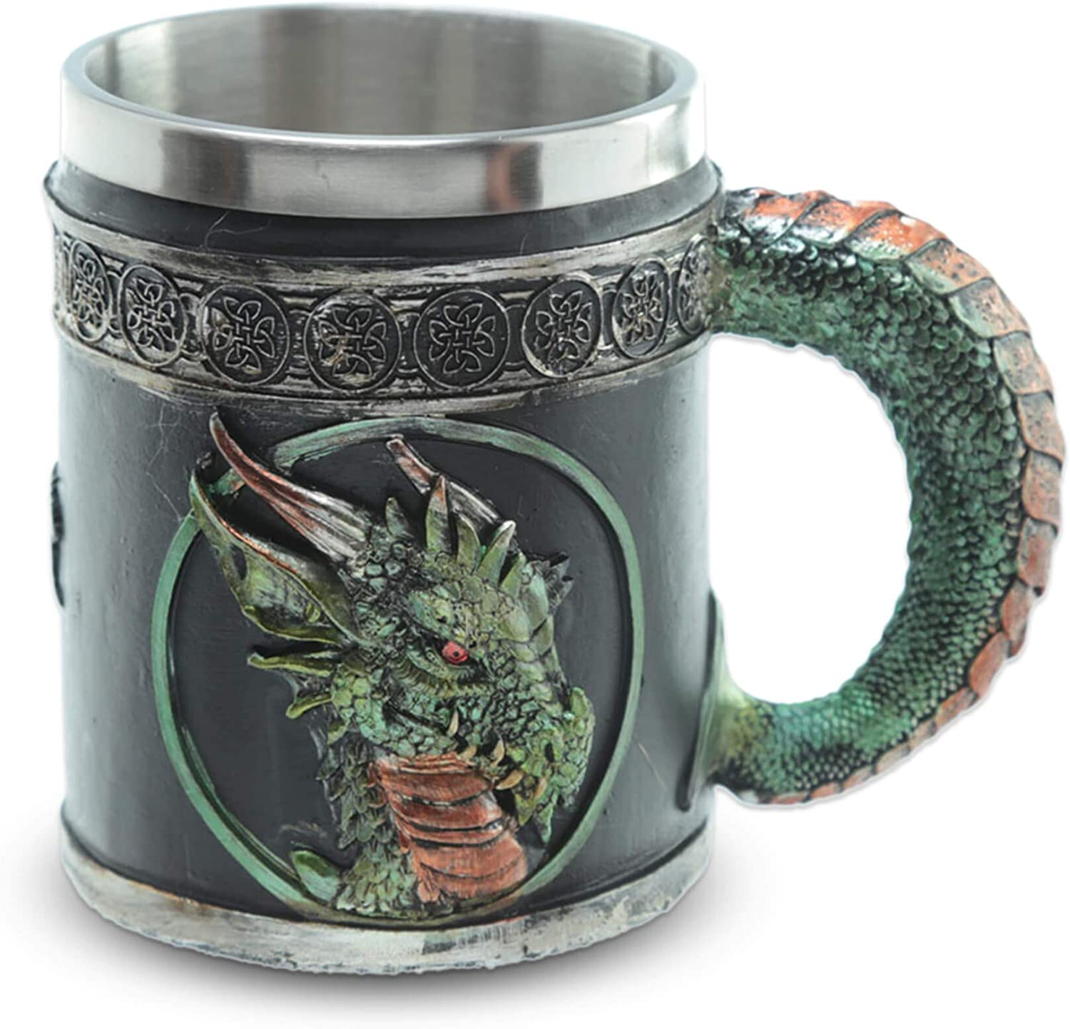 mtb more energy Jarra ''Blood of The Emerald Dragon'' (0,35l) - Verde - Altura 11 cm - Decoración Medieval fantasía fantástico Fantasy