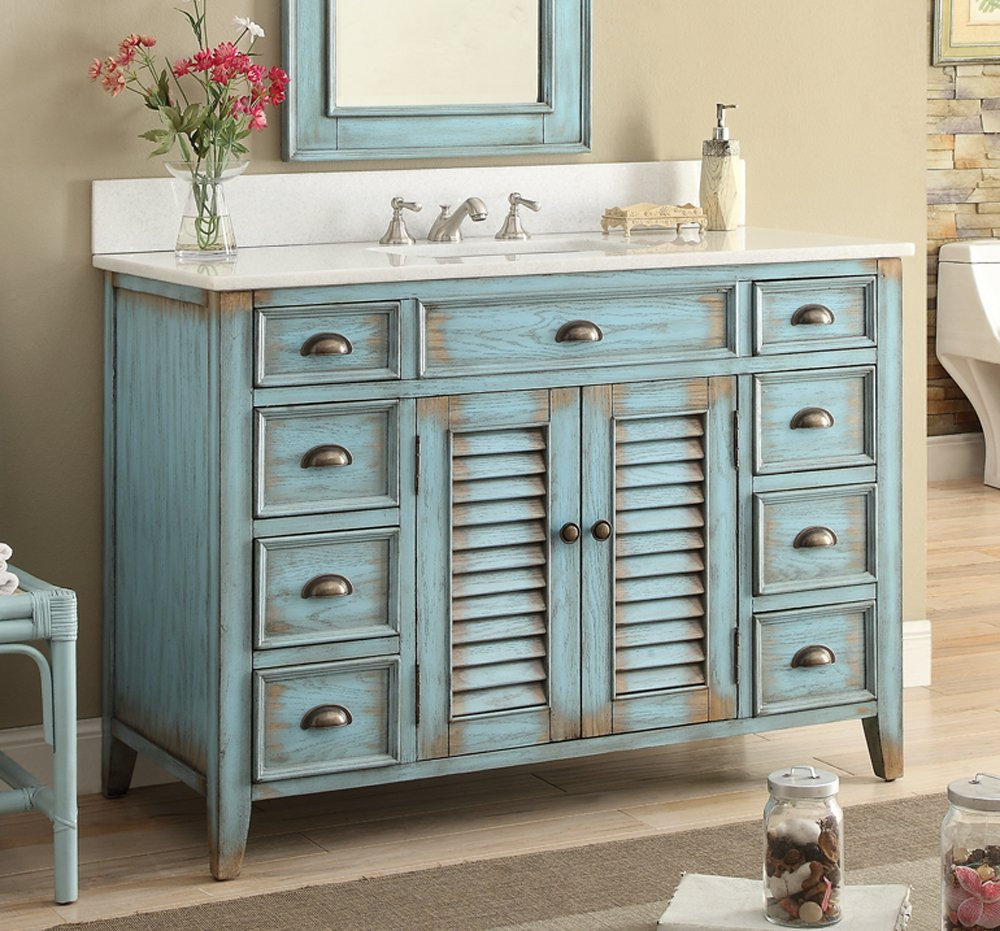 Beau Amazon.com: 46u201d Cottage Look Abbeville Bathroom Sink Vanity Model  CF28885BU: Kitchen U0026 Dining