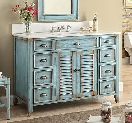 "Amazon.com: 46"" Cottage look Abbeville Bathroom Sink vanity Model ..."