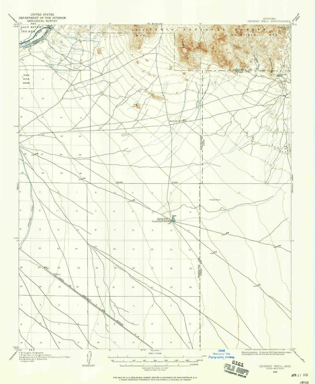 Map Of Arizona 1858.Amazon Com Desert Well Az Topo Map 1 62500 Scale 15 X 15 Minute