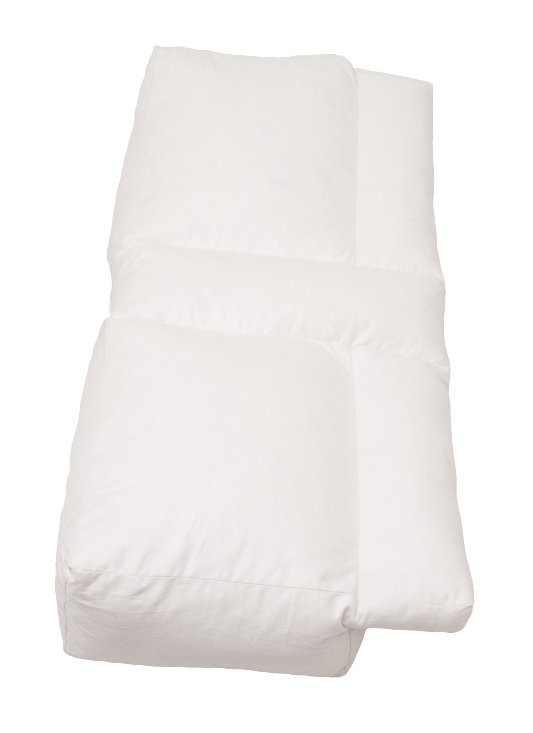 Better Sleep Pillow Goose Down Pillow - Patented Arm-Tunnel Design Improves Hand And Arm Circulation - Neck Pain Relief - Perfect Side And Stomach Sleeper Pillow - Bed Pillow, White