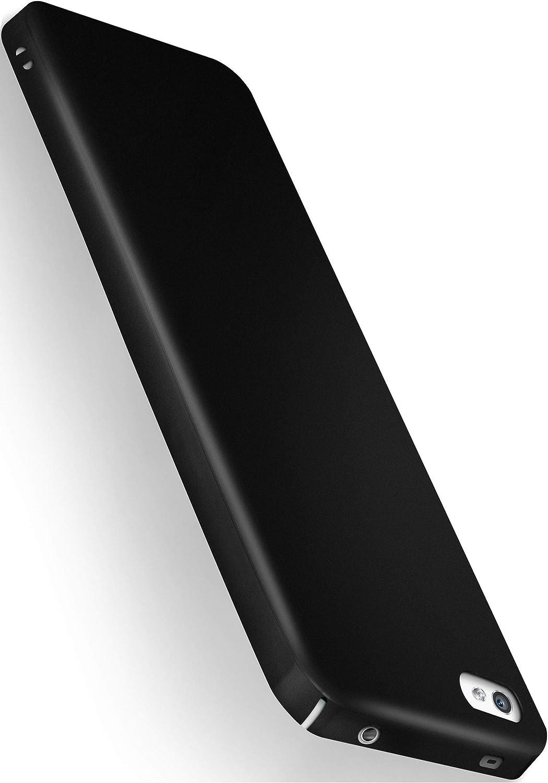 moex® Funda Trasera [Ultrafina] Compatible con Sony Xperia Z5 Compact | Metálico Mate Noir