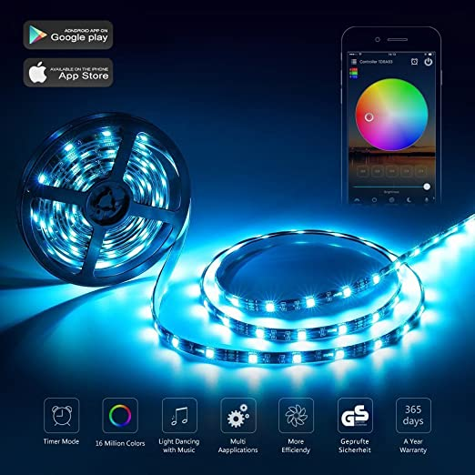 Wifi led strip light work with amazon alexa 5m 300leds 5050 rgb wifi led strip light work with amazon alexa 5m 300leds 5050 rgb multicolor waterproof ip65 mozeypictures Gallery