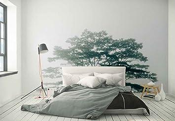 Papier Peint Mural Cime Des Arbres Branches Brouillard Theme