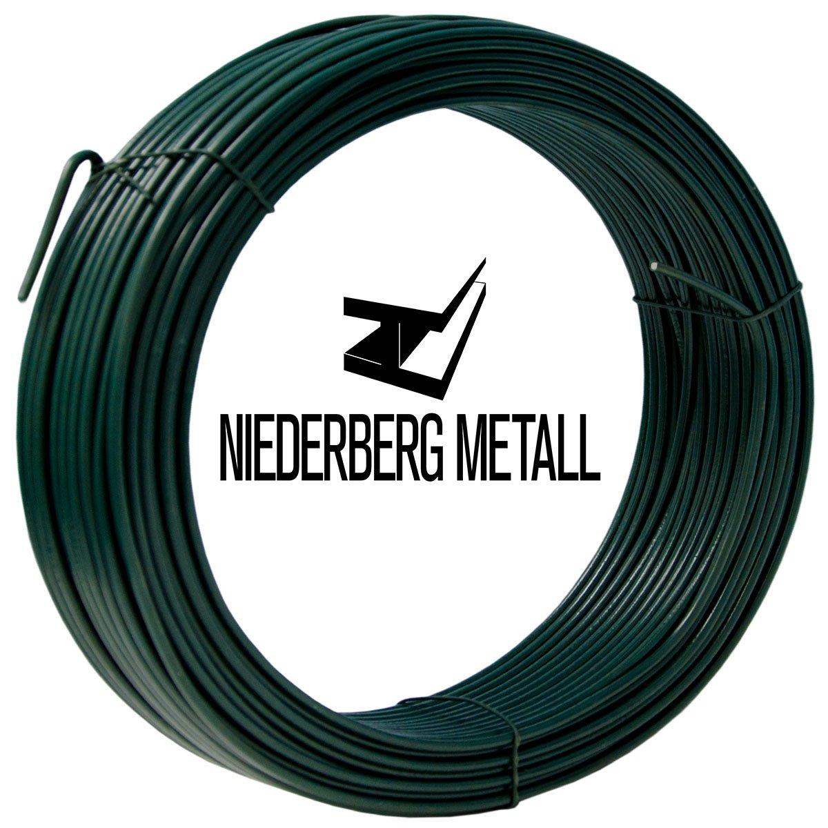 NIEDERBERG METALL 25m Bindedraht Spanndraht Ø 2,0mm Basteldraht ...