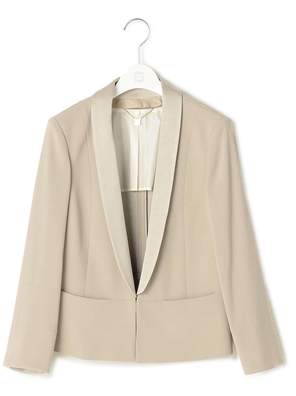 (ラヴィソン ラヴィエール) Ravissant Laviere バックサテン衿取り外しジャケット 7-0033-9-05-001 B075WPSTJG  ベージュ 38